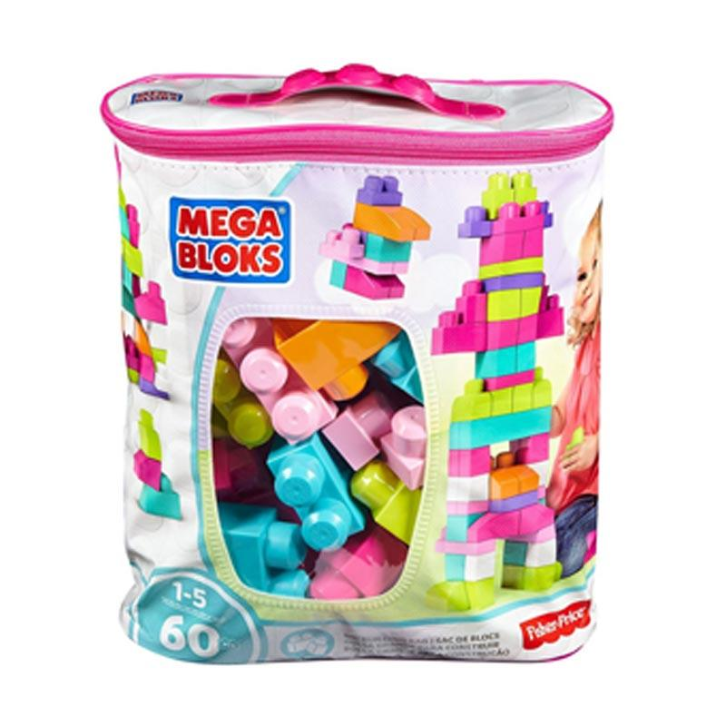 Mega Bloks Big Building Bag Pink Mainan Anak