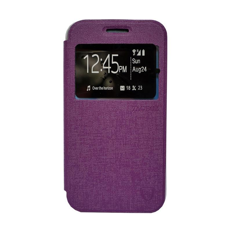 Zagbox Flip Cover Casing for Asus Zenfone 4S - Ungu
