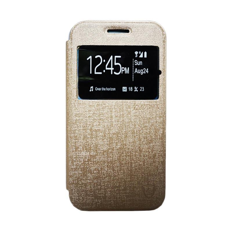 Zagbox Flip Cover Casing for Samsung Galaxy J1 - Gold