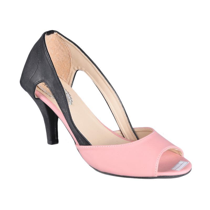RSM SN-160 Sepatu High Heels Wanita - Hitam Pink