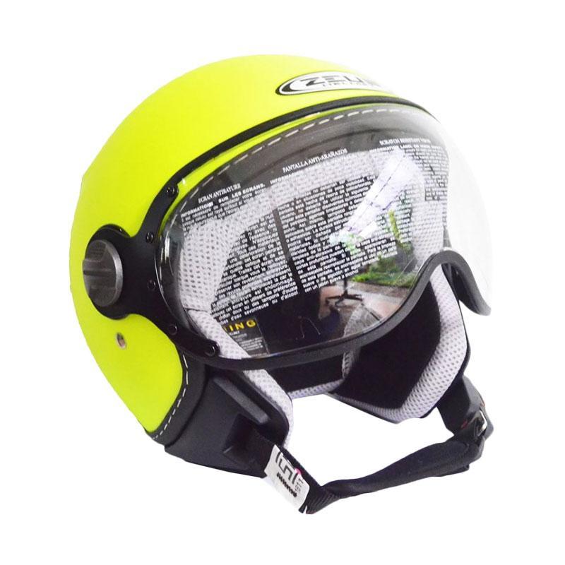 Zeus ZS-210K Polos Helm Half Face - Kuning Dope