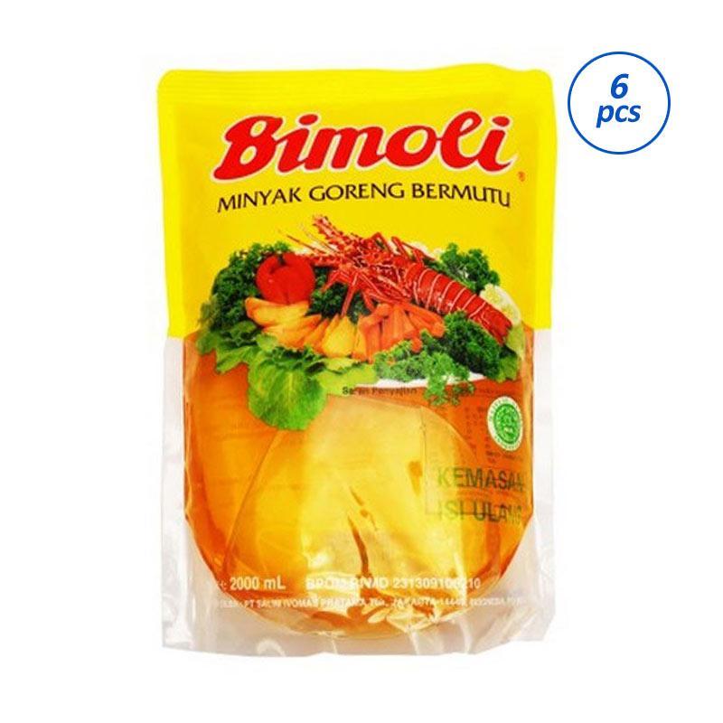 Groceries - Bimoli Klasik Pouch Minyak Goreng [2000 mL/6 pcs]