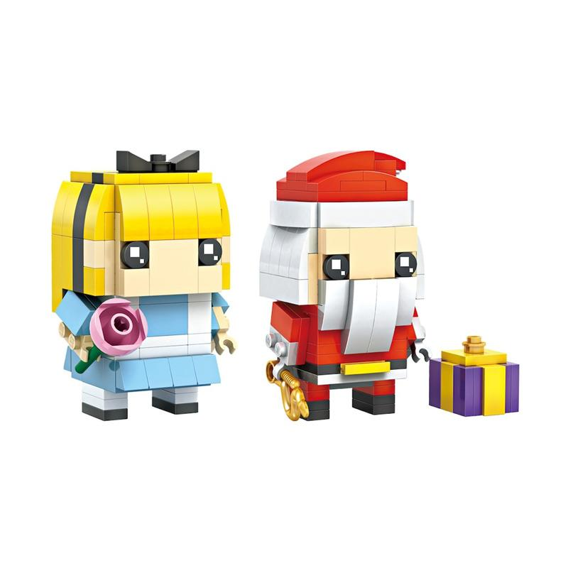 Loz Mini 1705 Brick Headz Mainan Blok dan Puzzle