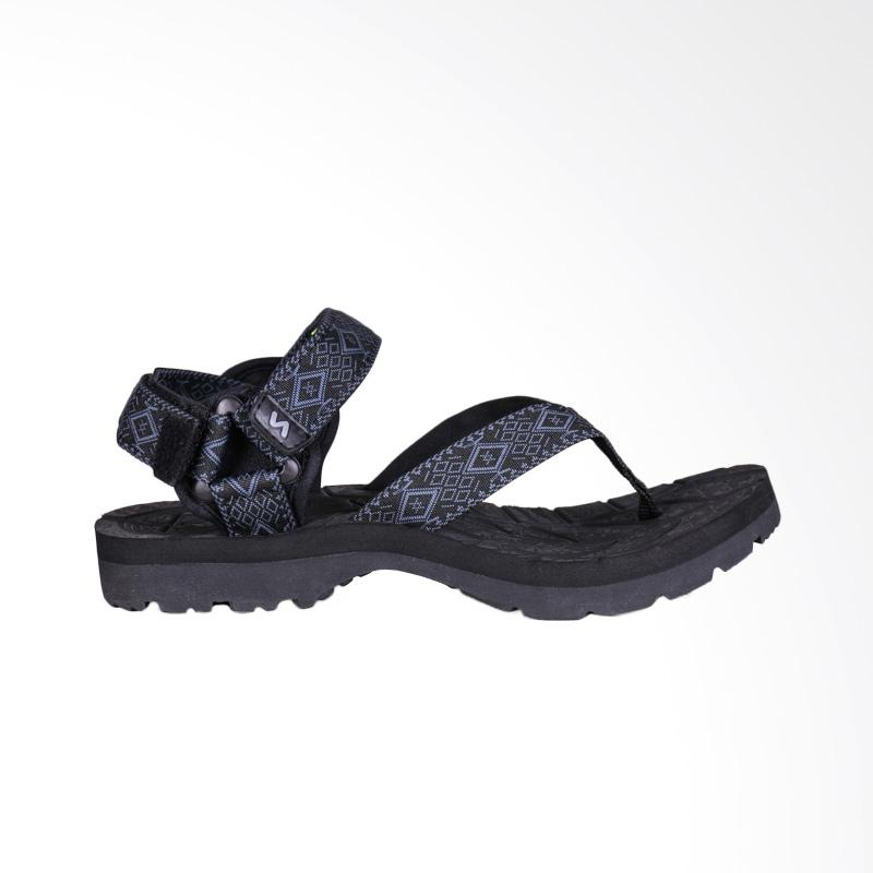 Savana Panite Clip Bar Sandal Pria - Black Grey