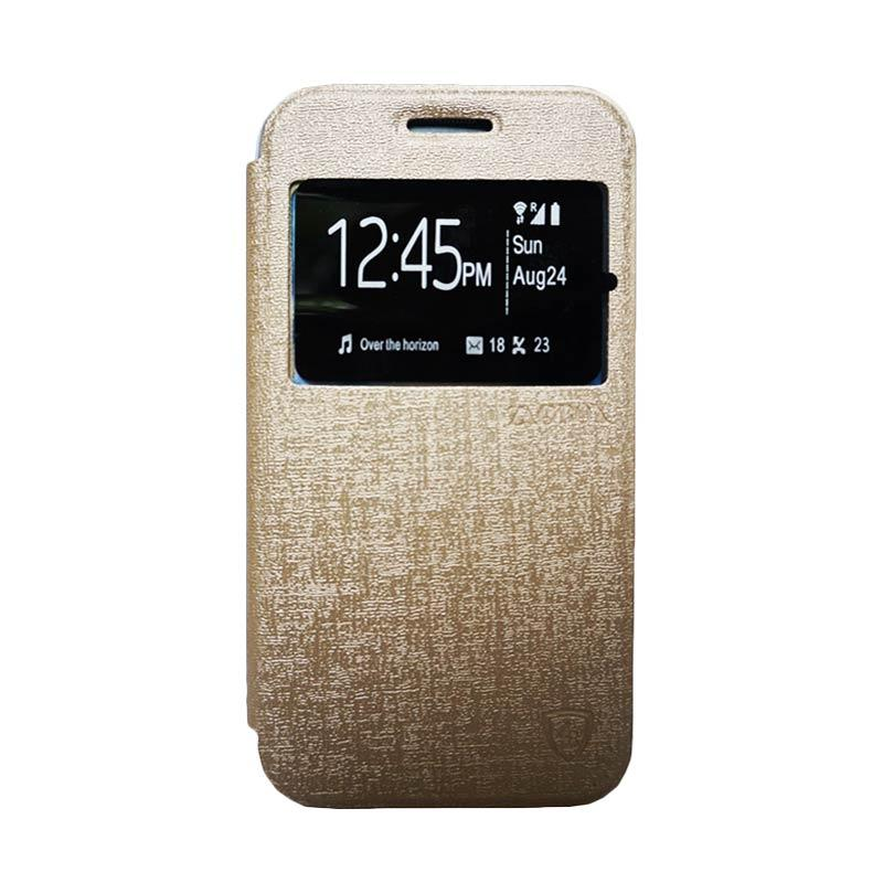 Zagbox Flip Cover Casing for Samsung Galaxy J3 - Gold