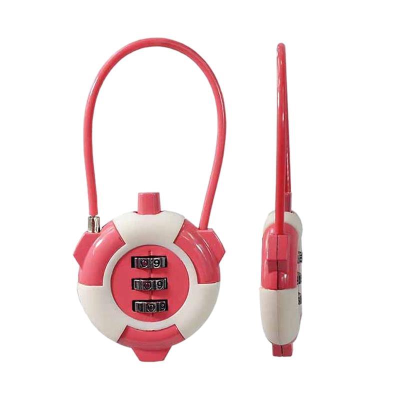 Traveltime 548 Combination Lock - Pink
