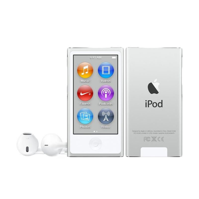 harga Apple iPod Nano 7 16 GB Portable Player - Silver Blibli.com
