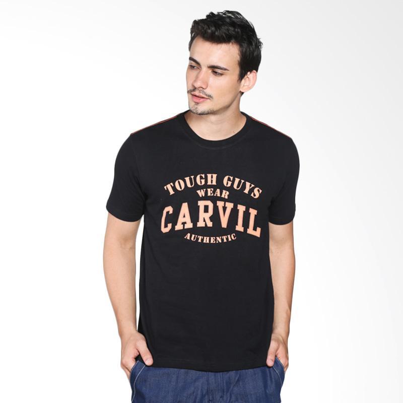 Carvil Men 11.TEE.BL2.05/ TEEBLK-A2 T-Shirt Pria - Black Extra diskon 7% setiap hari Extra diskon 5% setiap hari Citibank – lebih hemat 10%