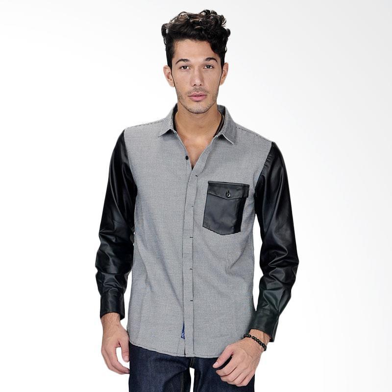 SJO & SIMPAPLY Skin Sleeve Check Men's Shirt - Black
