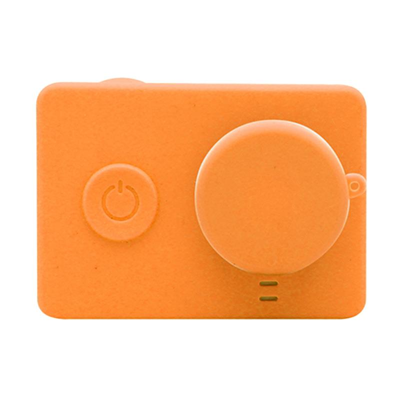 Xiaomi Yi Silicone Case and Lens Cap - Orange