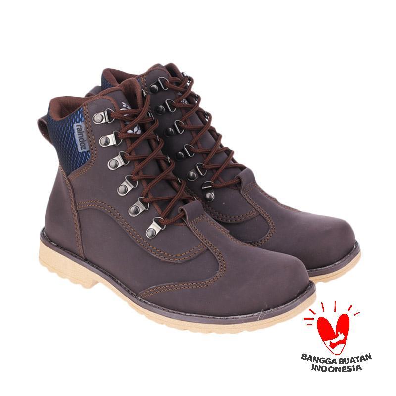 Raindoz Alvis RJM 516 Sepatu Pria - Brown