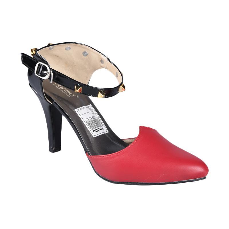 RSM SN-242 Sepatu High Heels Wanita - Hitam Merah