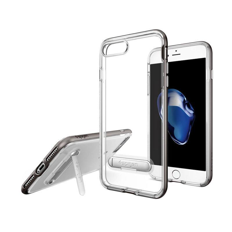 Spigen Crystal Hybrid Casing for iPhone 7 - Gunmetal