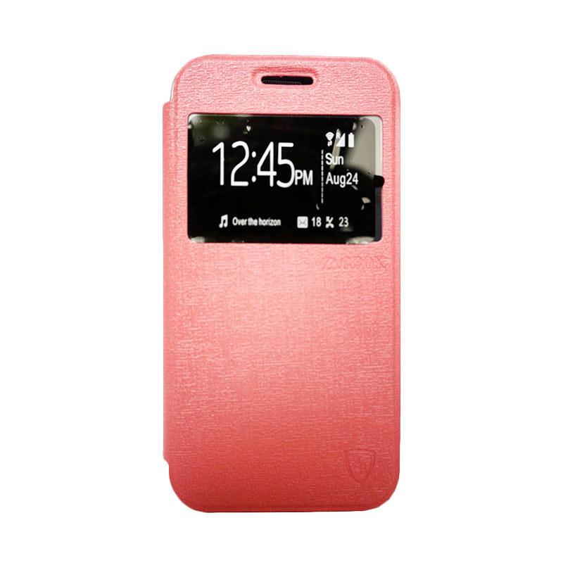 Zagbox Flip Cover Casing for Samsung Galaxy A3 - Pink