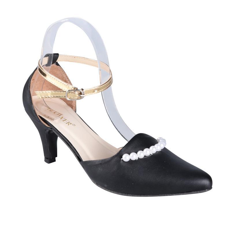 Flower SN-262 Sepatu High Heels Wanita - Black