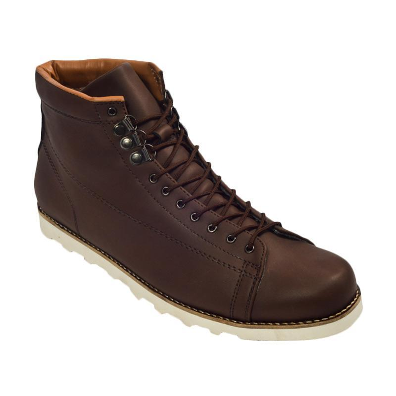 Giant Flames Hideaki Boots Sepatu Pria - Dark Brown
