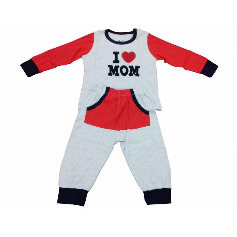 Chloebaby Shop F929 I Love Mom Piyama Baju Tidur
