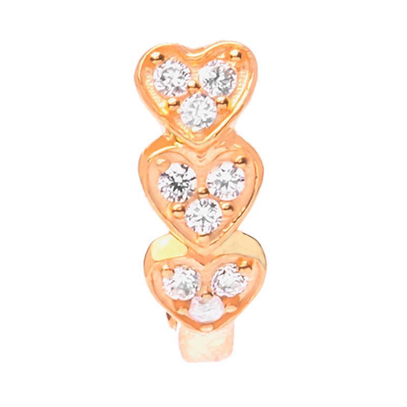 Heart Gold Earring - Anting Emas Kadar 37,5