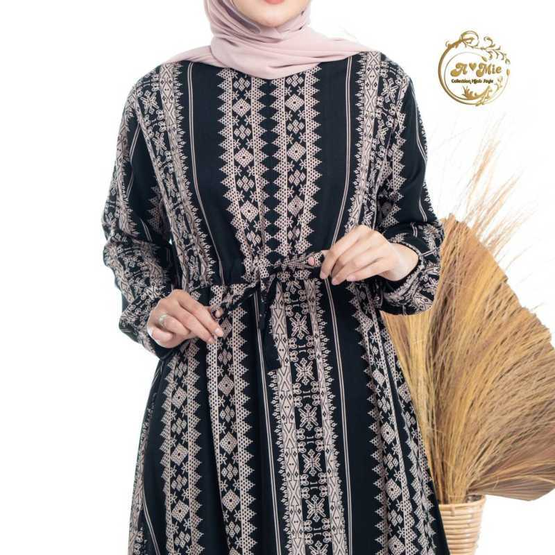 Jual Amie Collection Hijab Style Diana Maxi Amie Black Gamis Motif Sultan Baju Gamis Santai Online Februari 2021 Blibli