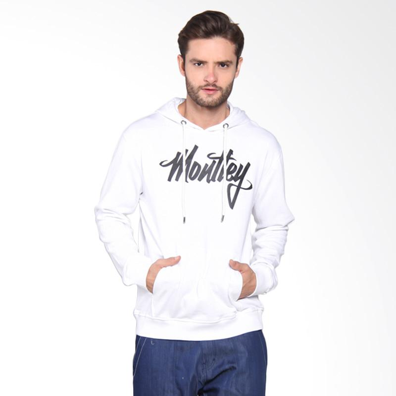 Moutley Typograph Hooded Sweater - White [312051715]