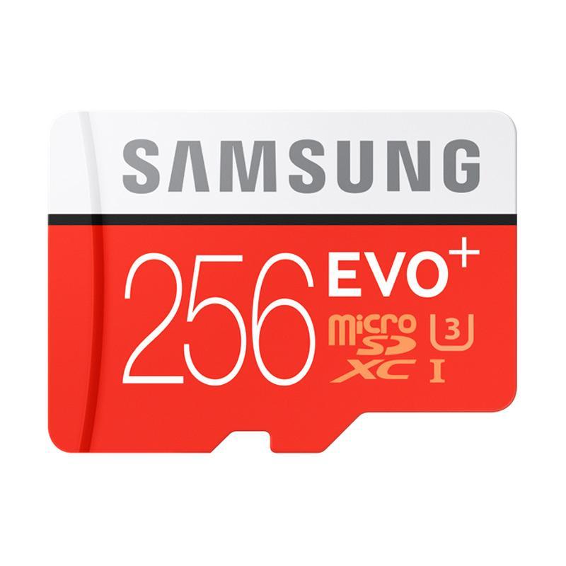 harga Samsung Evo Plus MicroSDXC UHS-1 Memory Card with Adapter[Class 10 /256 GB] Blibli.com