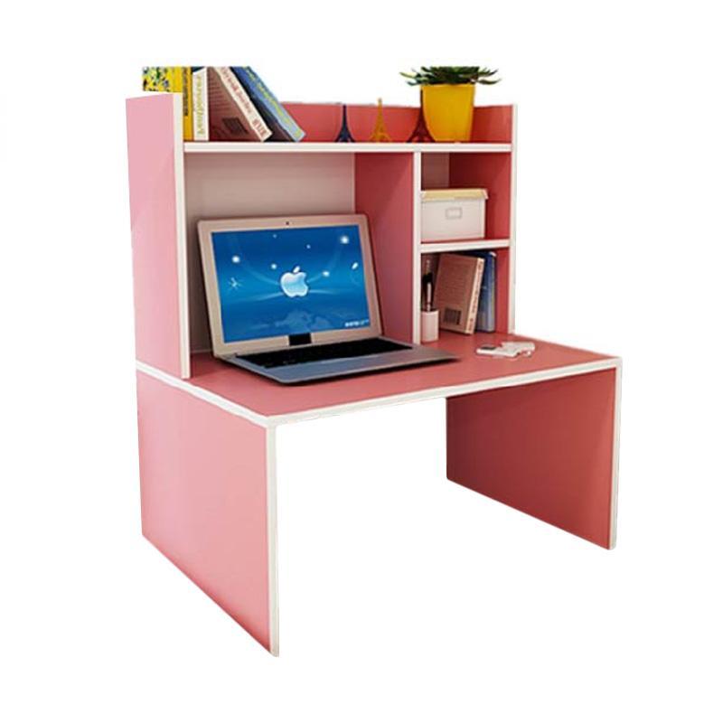 Best Furniture Mini Desk Lesehan Meja Laptop / Belajar dan Rak Sebaguna - Pink