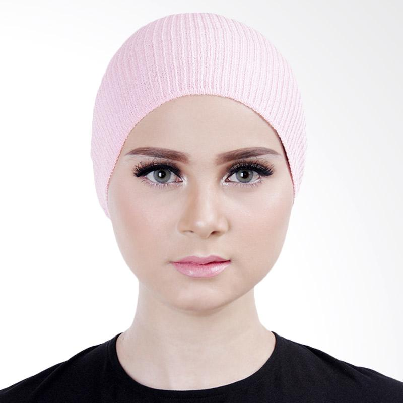 Cantik Kerudung Lizzie Inner Rajut Bandana - Baby Pink