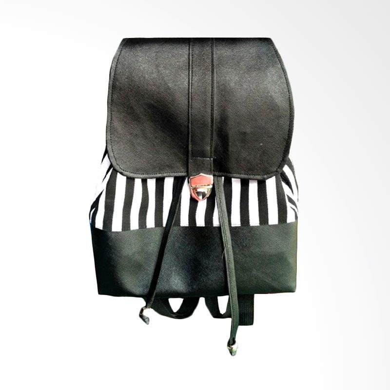 Donker Canvas Bucket Flip Stripes Mini Backpack