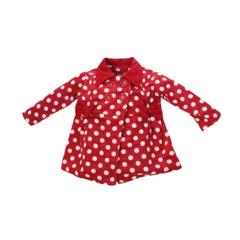 Bibbo.in Baby Blazer Dot Jaket Bayi Perempuan - Red