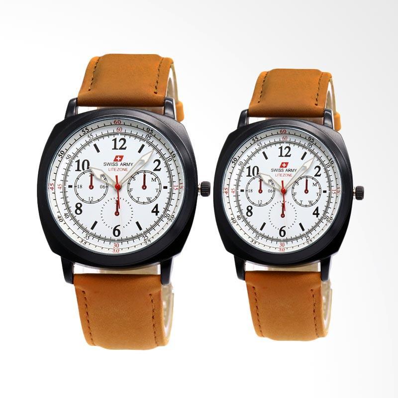 Ulasan Terbaru Swiss Army LZ001 Jam Tangan Couple - Coklat Putih Dan Harganya