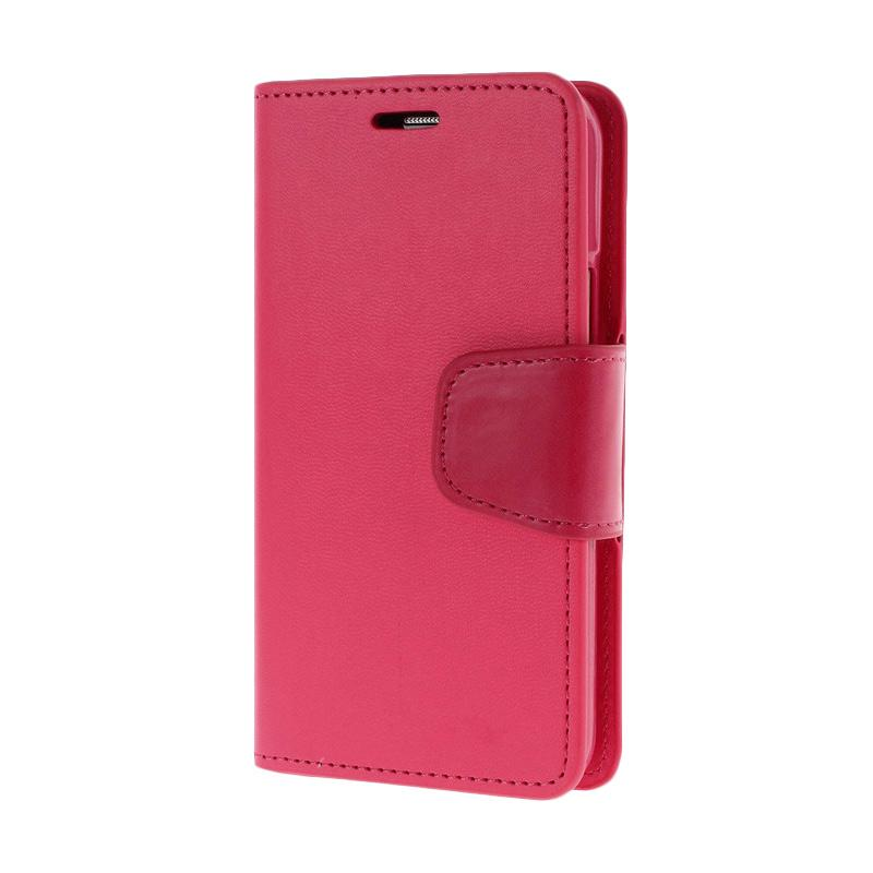 Mercury Standing Flip Cover Casing for Samsung Galaxy Grand 2 - Hot Pink