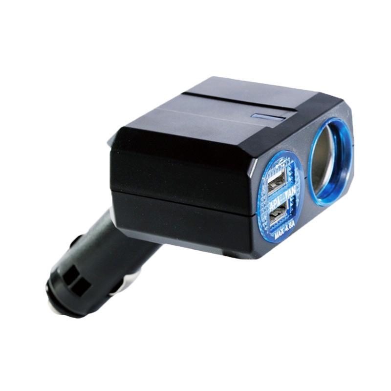 SIV PZ-708B Socket Charger 1 Socket Plus 2 USB Slot Car Charger