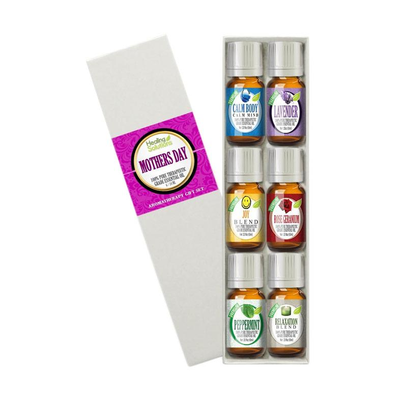 Healing Solutions Mothers Day Set 100% Pure Best Therapeutic Grade Essential Oil Kit [10 mL]