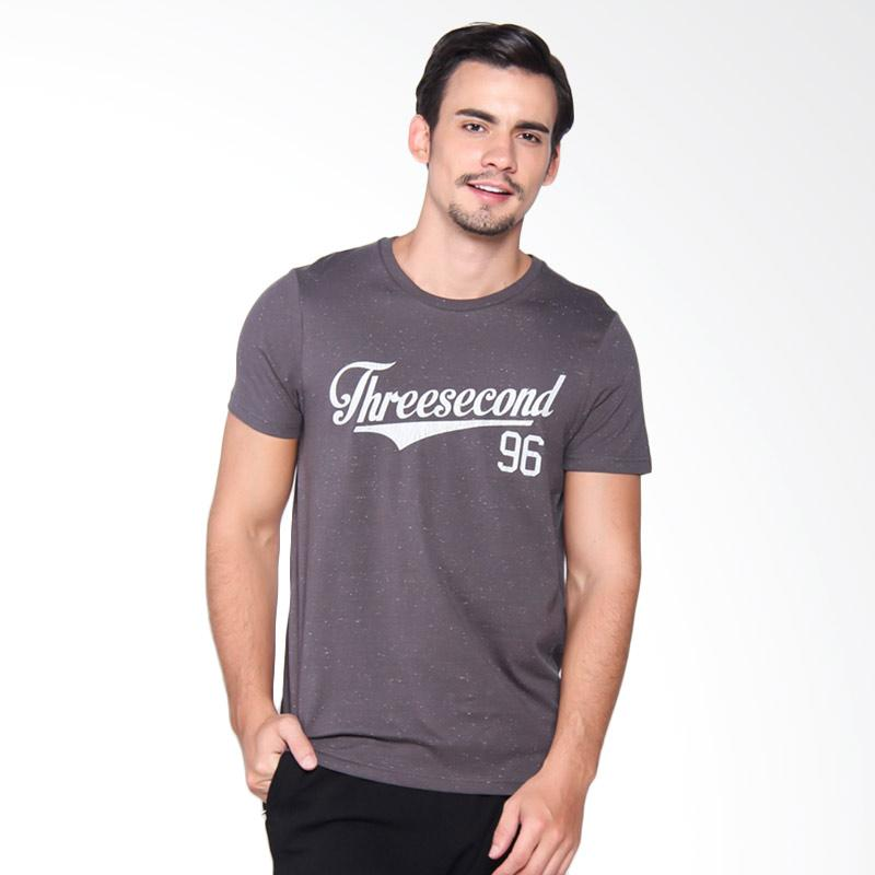 3Second 4009 T-Shirt Pria - Grey 140091712