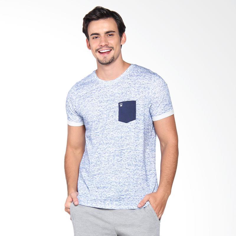 3Second 7209 Tshirt  Pria - Blue 172091712