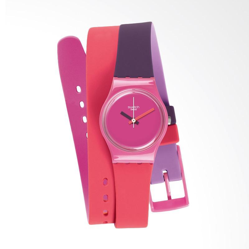 Swatch LP137 Women's Analog Display Quartz Multi Color Watch Jam Tangan Wanita Fun In Pink