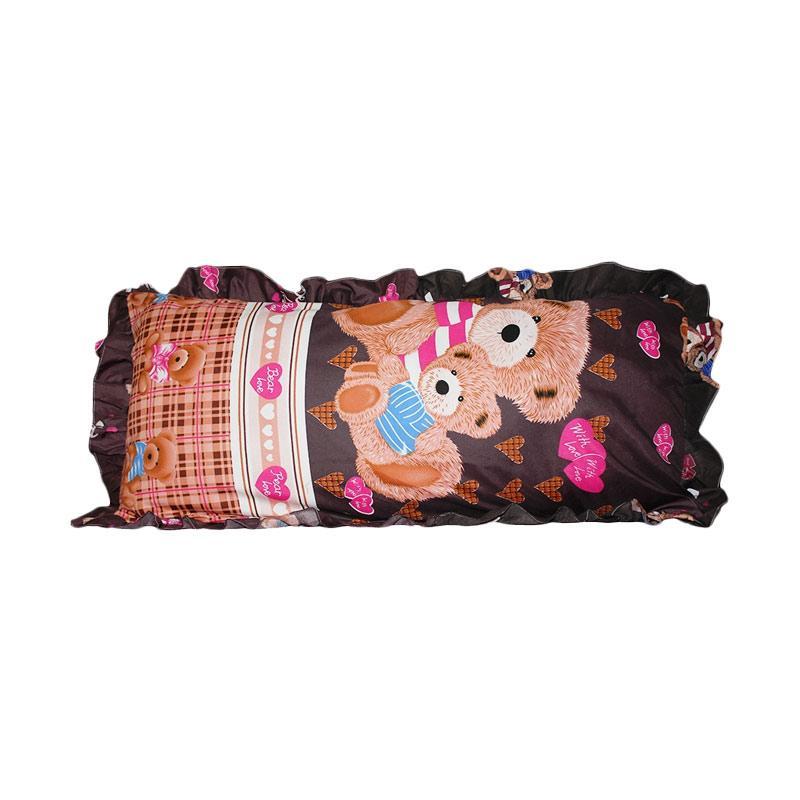 Monalisa Motif Teddy Bear Sarung Bantal Cinta [45 x 95 cm]