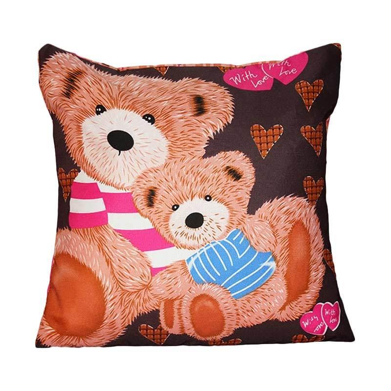 Monalisa Motif Teddy Bear Sarung Bantal Sofa [30 cm]
