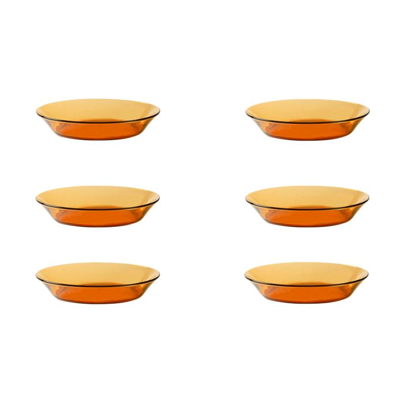 Duralex Amber Set Piring [14.5 cm/6 pcs]