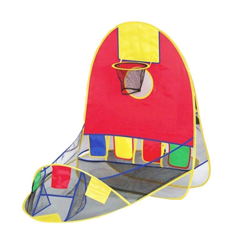 harga Best Tenda Basket Mandi Bola Bowling Mainan Motorik Anak - Red Blibli.com