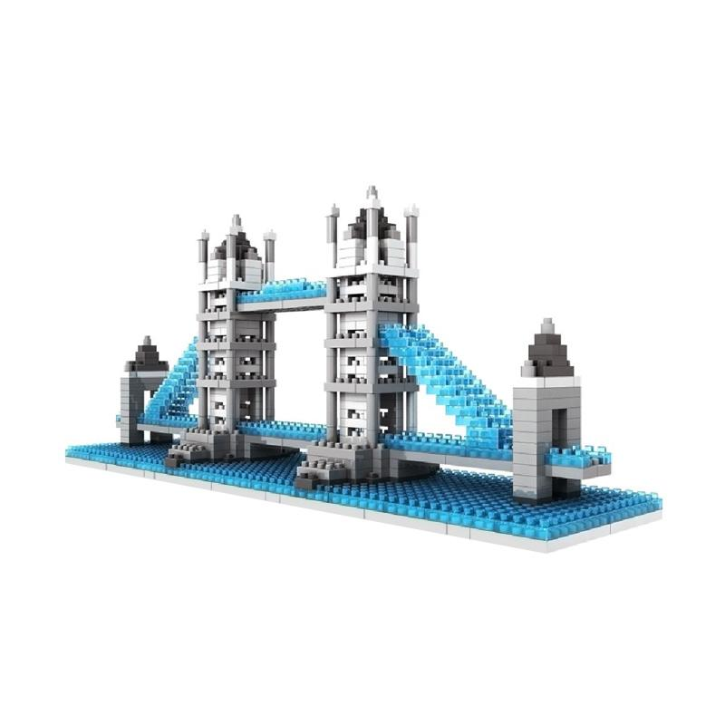 Loz Diamond Block World Famouse Architecture Series 9371 Tower Bridge London Mainan Blok & Puzzle
