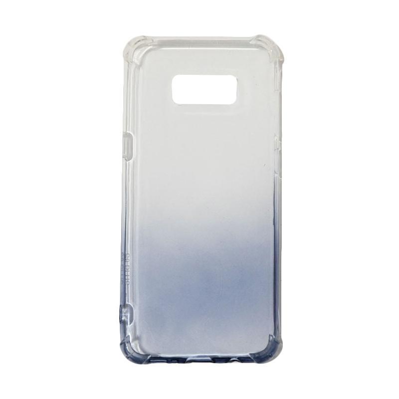 QCF BUY 1 GET 1 Softcase Anti Crack Anti Shock Warna Gradasi Casing for Samsung Galaxy S8 Plus / S8+ Silikon / Case Unik - Hitam (Free Warna Random)