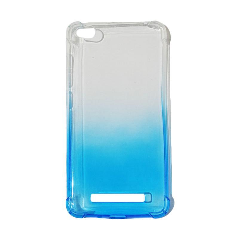 QCF BUY 1 GET 1 Softcase Anti Shock Anti Crack Warna Gradasi Silicone Casing for Xiaomi Redmi 4A Ultrathin / Case Unik - Biru (Free Warna Random)
