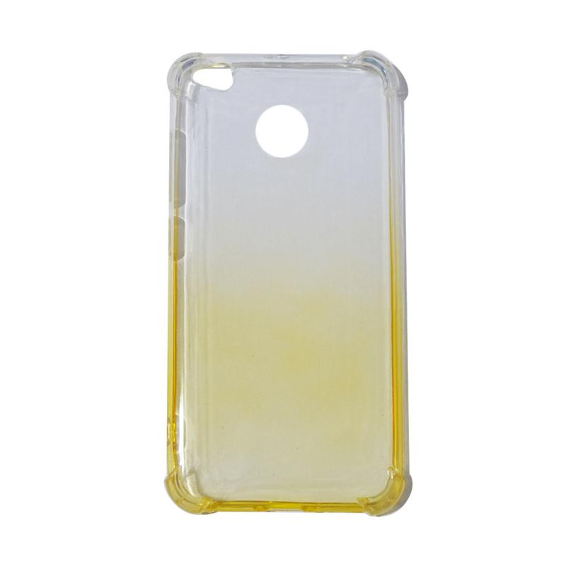 QCF BUY 1 GET 1 Softcase Anti Shock Anti Crack Warna Gradasi Silicone Casing for Xiaomi Redmi 4X Ultrathin / Case Unik - Kuning (Free Warna Random)