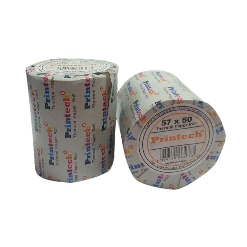 Printech Cash Register Thermal Paper Roll [57x50 cm] [Isi 10 pcs]