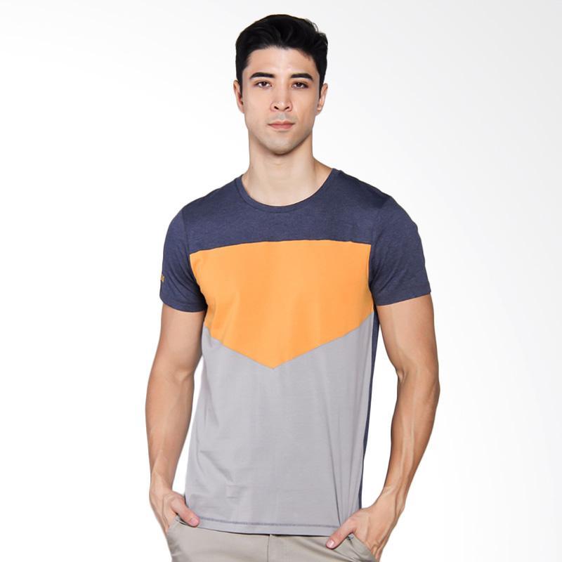 3SECOND 4304 T-shirt Pria - Blue [143041712]