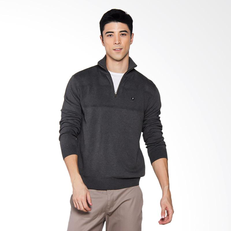 Famo Mens Relaxed Knit Jaket - Grey [1311 513111716AB]