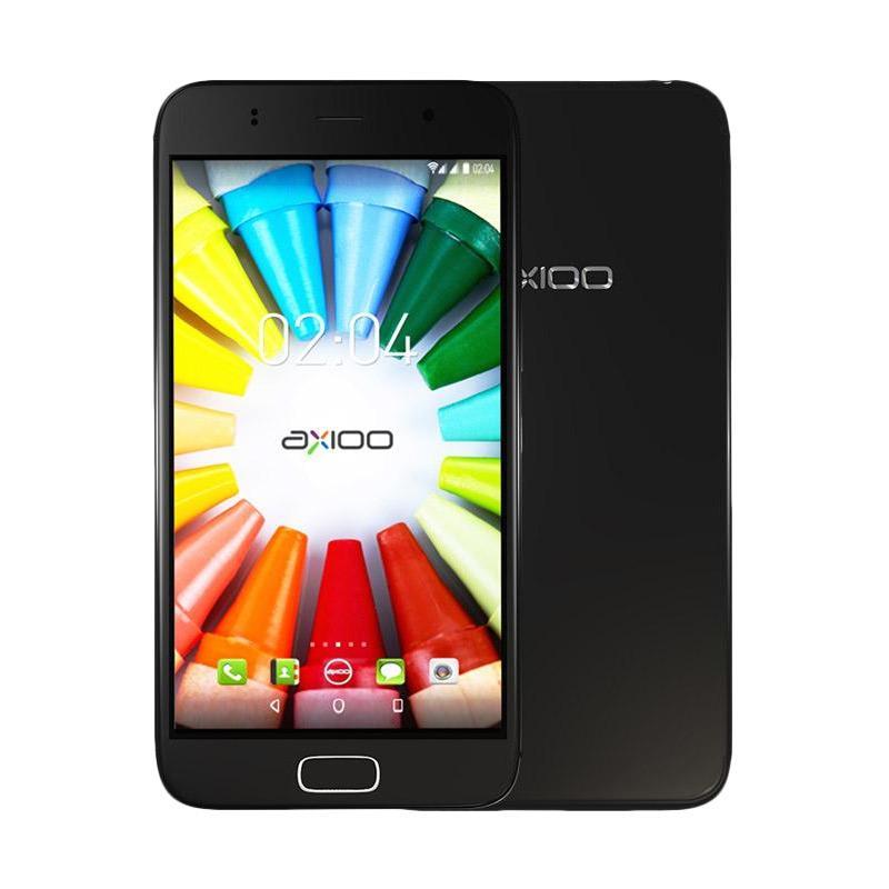 Axioo M5 Plus Picophone Smartphone - Black [RAM 1 GB/ ROM 8 GB]