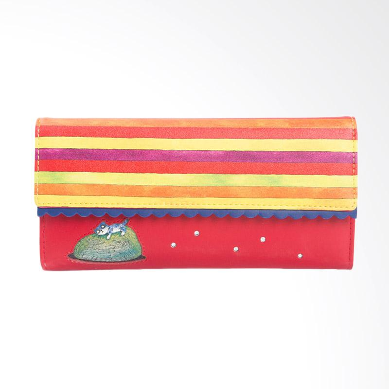 IPC Mansion Selected Jimmy Colorful Strip Cat Long Purse Dompet