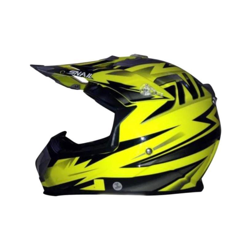 Snail Helmet MX315 Helm Motocross - Kuning Hitam Clear